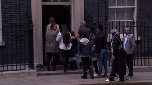 Children and their relatives were invited to Downing Street for a special reception.