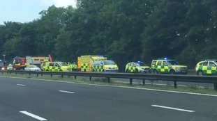 Woman killed and man seriously injured in M4 car crash between Porthcawl and Margam
