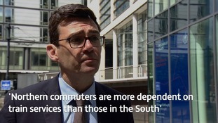 Greater Manchester Mayor: northern commuters need more rail compensation than the South