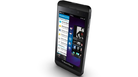 The front of the new Blackberry 10