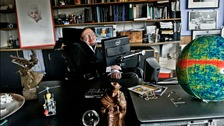 Professor Stephen Hawking in his world-famous office