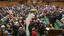 SNP MPs walk out of the Commons.