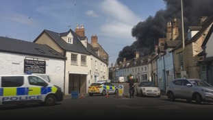 Homes evacuated after fire breaks out in Witney
