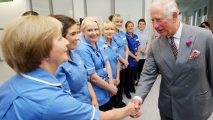 Prince Charles is visiting Omagh on day two of his visit to Northern Ireland