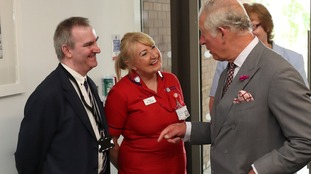 Staff nurse Joann McCullagh, who treated victims of the Omagh bomb, met Prince Charles
