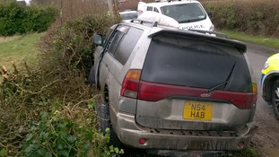 The chase finished when Shepherd crashed into a telegraph pole.