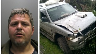 Jailed: Driver who led police on 30-minute chase through Cambridgeshire