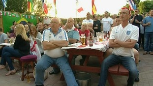 Fans watching the World Cup in 2014