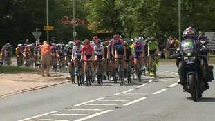 The Women's Tour riders speed through Suffolk.