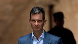 Inaki Urdangarin leaves a courthouse in Palma