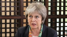 Theresa May apologised for not meeting Grenfell residents on the day of the fire.