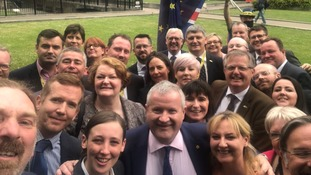 A selfie of the SNP MPs who walked out in solidarity with Ian Blackford.