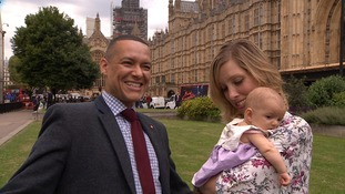 Norwich South MP Clive Lewis brings baby daughter to PMQs