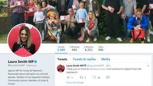 Junior minister Laura Smith explained her decision on Twitter.