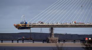Work on the new Mersey Gateway Bridge