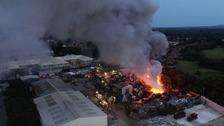 6,000 tonnes of scrap metal on fire in East Sussex
