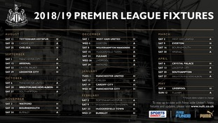 2018/2019 Newcastle United fixtures