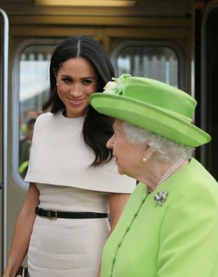 The pair arrived in Cheshire on the royal train after spending the night on board.