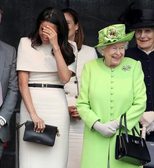 The Duchess of Sussex and the Queen appeared to get on well.