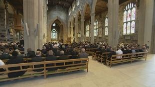 Funeral service at Sheffield Cathedral