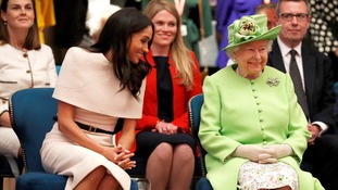 Meghan is shown the royal ropes - by the boss
