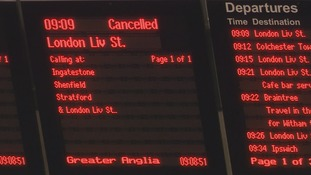 The disruption on the railways spread to the Great Eastern line into Liverpool St this week because of a cracked track.