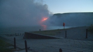 Grass fire in St Bees