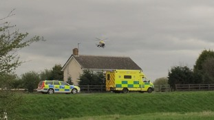 Air ambulance at scene