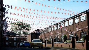 All of the residents of England Street, formally Wales Street, have chipped in for decorations