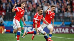 Dominant Russia kick off World Cup campaign with 5-0 win over Saudi Arabia