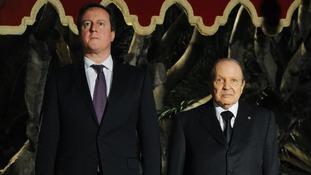 David Cameron meets the Algerian President Abdelaziz Bouteflika