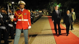 David Cameron at the Presidential Palace in Algiers