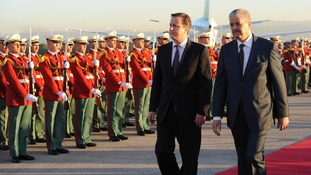 David Cameron meets the Prime Minister of Algeria Abdelmalek Sellal