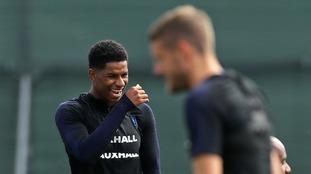 Marcus Rashford returns to England World Cup training in Russia