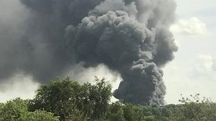 Huge fire breaks out in Ryton