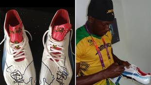 Signed Usain Bolt running shoes worn at the London 2012 Olympics stolen in burglary