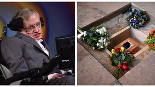 Stars turn out to say a final farewell to Professor Stephen Hawking at Westminster Abbey