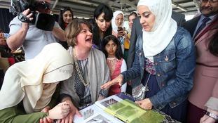DUP leader Arlene Foster visits Muslim community