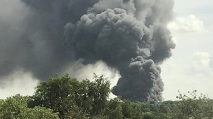 Smoke could be seen for miles