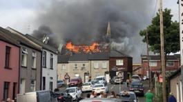 Newport church still smouldering after huge fire