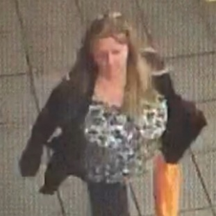 CCTV image of Marie after she went missing.