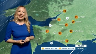 Cloudy start today but clearing later