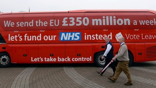 The prime minister has doubled the Brexit bus's £350m claim.