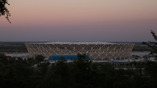 The Volgograd Arena, where England's opening World Cup group match against Tunisia will be played.