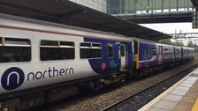 A Northern train at Liverpool South Parkway station
