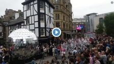 Thousands enjoy the Manchester Day festivities