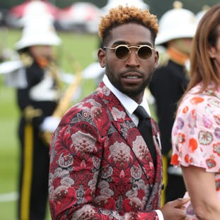 Tinie Tempah seen before the start of the Cartier Trophy at the Guards Polo Club, Windsor Great Park, Surrey.