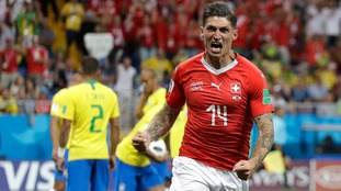 Coutinho and Zuber on target as Brazil were held to a 1-1 draw by Switzerland in the opening match in Group E
