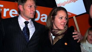 Danny Nightingale with his wife