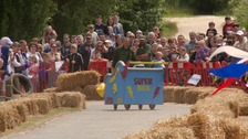 Fourth annual 'soap-box' race at Wicksteed Park